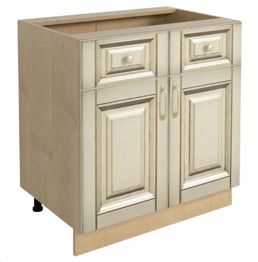 Долен кухненски шкаф H 80x87 с 2 чекмеджета и 2 врати